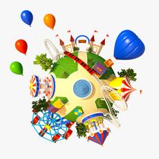 Planet Park 01 3D Model
