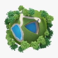 Planet Mere 02 3D Model