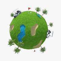 Planet Golf 02 3D Model