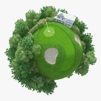 Planet Golf 01 3D Model