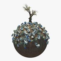 Planet Garbage 3D Model