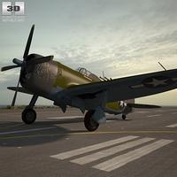 Republic P-47 Thunderbolt 3D Model