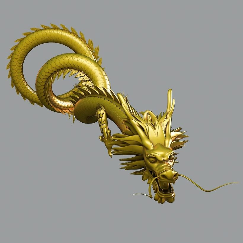 High Quality 3d Models: Chinese Dragon 3D Model