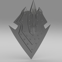 Orcish shield 3D Model