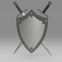 Shield and sword 5.1 3D Model