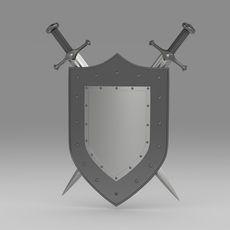 Shield and sword 5.2 3D Model