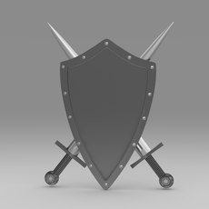 Shield and sword 5.6 3D Model