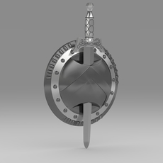 Shield and sword 5.7 3D Model