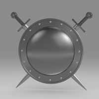 Shield and sword 5.8 3D Model