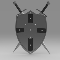 Shield and sword 5.9 3D Model