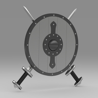 Shield and sword 6 3D Model