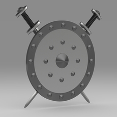 Shield and sword 7 3D Model
