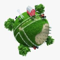 Planet Farm 02 3D Model