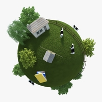 Planet Farm 01 3D Model