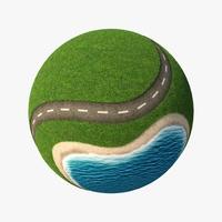 Planet City Roads 04 3D Model