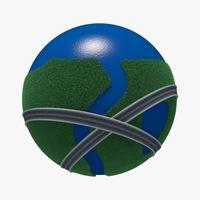 Planet City Roads 02 3D Model