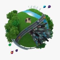Planet City 03 3D Model
