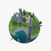 Planet City 02 3D Model