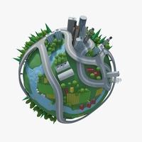 Planet City 01 3D Model