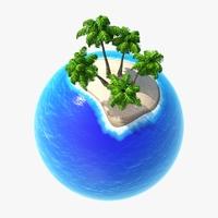 Green Planet Tropics 01 3D Model