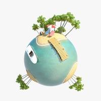 Green Planet Tropics 02 3D Model