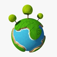 Planet Cartoon 04 3D Model