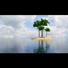 Island Scene 01 3D Model