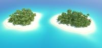 Island Scene 02 3D Model