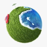 Green Planet Easy 08 3D Model