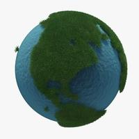 Green Planet Earth 01 3D Model