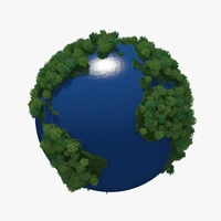 Green Planet Earth 02 3D Model