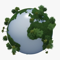 Green Planet Earth 03 3D Model