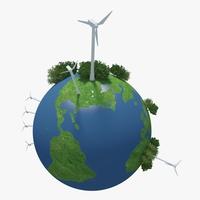 Green Planet Earth 04 3D Model