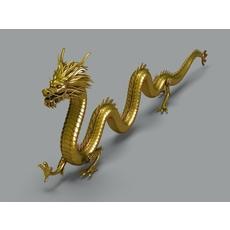 Chinese Dragon 2 3D Model