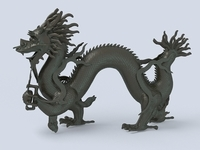 Chinese Dragon Sculpture 1 3D Model