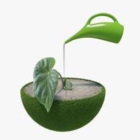 Green Peace Earth 02 3D Model