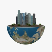 Green Peace Earth 04 3D Model