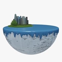 Green Peace Earth 05 3D Model