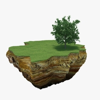 Green Peace Island 01 3D Model