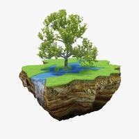 Green Peace Island 03 3D Model