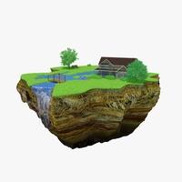 Green Peace Island 04 3D Model