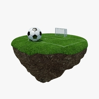 Green Peace Island Football 3D Model