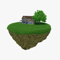Green Peace Island House 3D Model