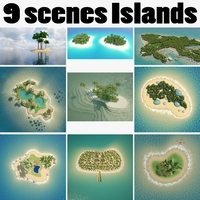 Collection Islands Scenes 3D Model
