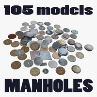 Collection Manholes 3D Model