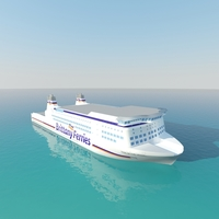 Ship Brittany Ferries 3D Model