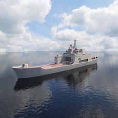 Ship Ivan Rogov Class 3D Model