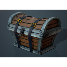 Game Ready Treasure Chest 3D Model