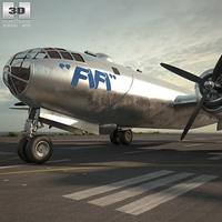 Boeing B-29 Superfortress 3D Model