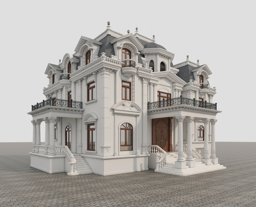 Villa Classic 3Dsmax Download Free Exterior - Devtools